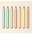 pencils color vector image