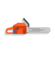 Chainsaw Icon on white background Flat design vector image