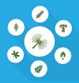 flat icon natural set of baobab rosemary maple vector image