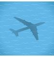 flight over sea vector image