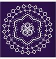 white lotus mandala blue background image vector image