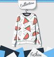 Design sweatshirt with prints of watermelons vector image