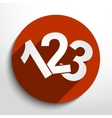 123 numbers icon vector image