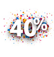 40 sale sign vector image vector image