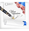 American blank and pen vector image