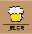 beer hand-drawn style vector image vector image