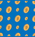 bitcoin etherium cryptocurrency seamless pattern vector image
