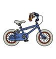 Blue child bike vector image vector image