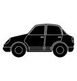 car black silhouette icon vector image