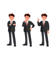 character set businessman thinks finds a vector image vector image