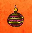 Christmas Bauble Cartoon vector image