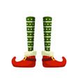 christmas elf feet flat vector image vector image