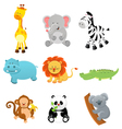 collection safari animals vector image