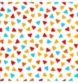 Colorful red orange yellow blue triangles hand vector image