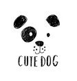 cute dog t-shirt design with slogan vector image