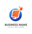 digital advertising logo and icon design vector image