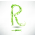 drawn by hand letter Grunge green grass wav vector image vector image