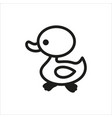 duck icon in simple monochrome style vector image vector image