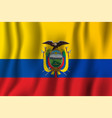 ecuador realistic waving flag national country vector image vector image