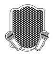emblem microphone icon stock vector image vector image