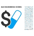 Farma Business Icon with Flat Set vector image vector image