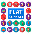 fire department flat icons in set collection for vector image vector image