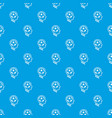 football player pattern seamless blue vector image