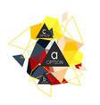 geometric triangle infographics vector image
