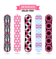 Girlish prints for snowboards vector image vector image