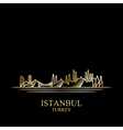 Gold silhouette of Istanbul on black background vector image vector image