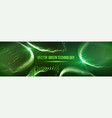 green technology background futuristic vector image vector image