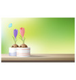 hello spring flower with crocuses vector image vector image
