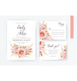 lelegant wedding invite rsvp thank you card set vector image vector image