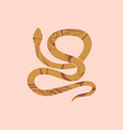 magic snake with marble texture mystical symbol vector image vector image
