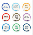 modern sale sticker and tag colorful collection 1 vector image vector image