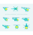 Nice set of helicopters for your design vector image