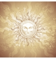 Old-fashioned sun decoration vector image