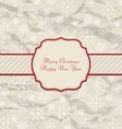 Old Invitation with Snowflakes Texture for Winter vector image vector image