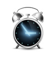 Old metal alarm clock with digital display vector image vector image