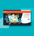 online education web page template studying vector image vector image