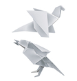 Origami dragon bird vector image