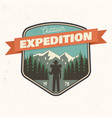 outdoor expedition patch vector image