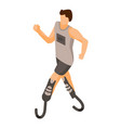 paralympic run man icon isometric style vector image