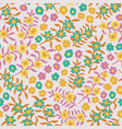 pink blooming meadow seamless small-scale floral vector image