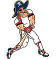 pirate sports logo mascot baseball vector image vector image