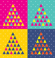 pop art christmas triangle vector image