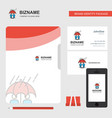 raining business logo file cover visiting card vector image vector image