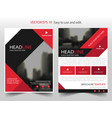 red black triangle square annual report brochure vector image vector image