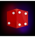 Red dice icon in cartoon style vector image vector image