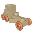 retro car toy on white background vector image vector image